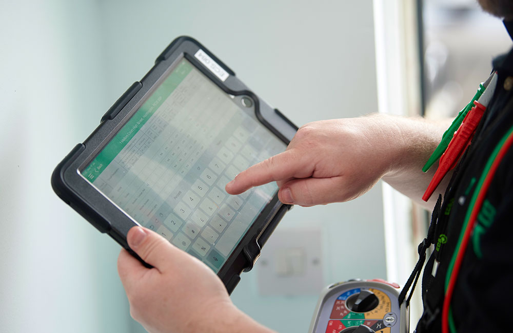 Engineer Using Ipad To Find Any Issues