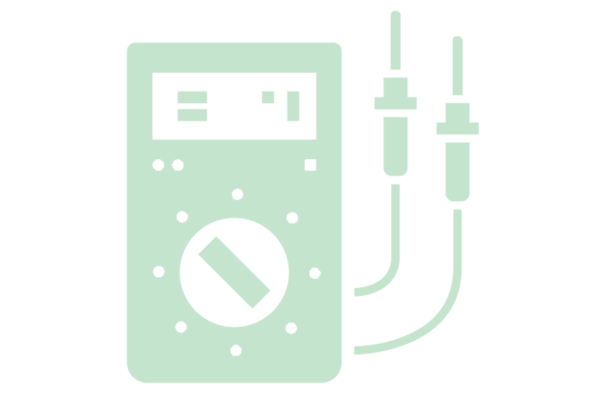 portable amp meter icon green