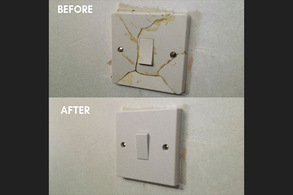 Before And After Light Switch